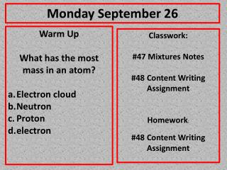 Monday September 26