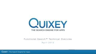 Functional Search™  Technical Overview April 2013