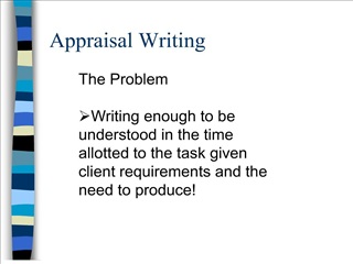 appraisal writing