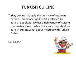TURKISH CUICINE