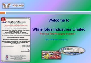 Welcome to  White lotus Industries Limited