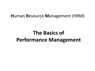 performance management seminar