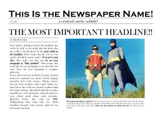This Is the Newspaper Name!