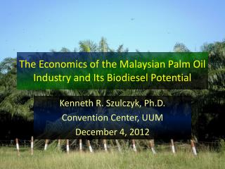 The Economics of the Malaysian Palm Oil Industry and Its Biodiesel Potential