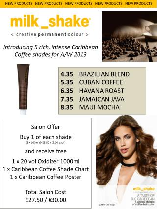 Introducing 5 rich, intense Caribbean Coffee shades for A/W 2013