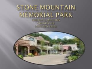 Stone Mountain Memorial Park Deedra   L. Williams Arlinda  Lee angelica  reese