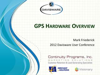 GPS Hardware Overview