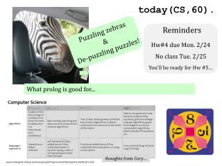 Puzzling zebras  & De-puzzling puzzles!