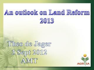 Theo de Jager 3 Sept 2012 AMT