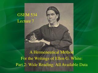 GSEM 534 Lecture 7
