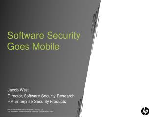 Software Security  Goes Mobile
