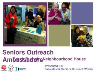 Seniors Outreach Ambassadors