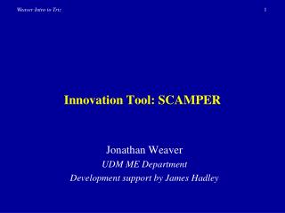 Innovation Tool: SCAMPER