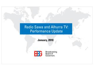 Radio Sawa and Alhurra TV: Performance Update see details
