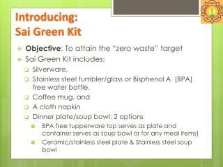 Introducing:  Sai  Green Kit