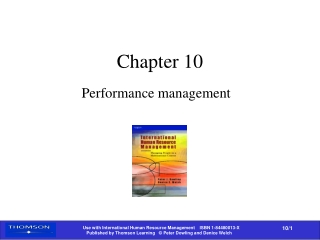 chapter 9  appraising and managing  performance