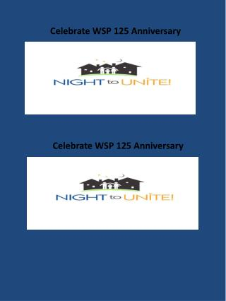Celebrate WSP 125 Anniversary