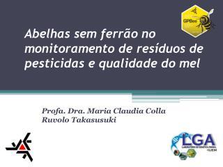 Abelhas  sem ferrão no monitoramento de resíduos de pesticidas e qualidade do  mel