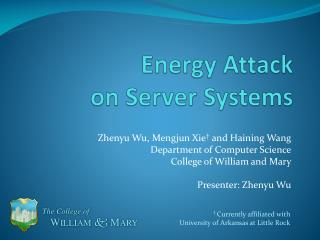 Energy Attack on Server Systems