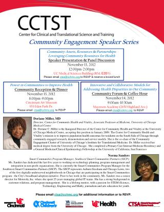 Community Assets, Resources & Partnerships: Leveraging Community Resources for Health Speaker Presentation & Panel Disc