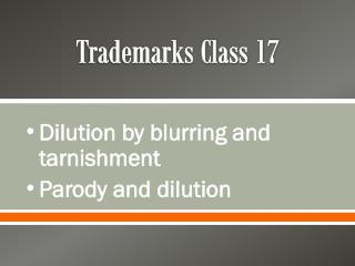 Trademarks Class 17