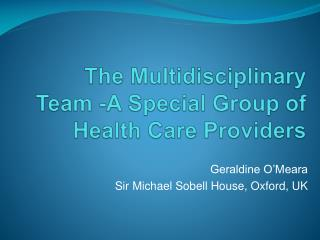The Multidisciplinary Team -A Special Group of Health Care Providers
