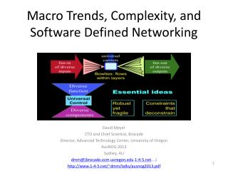 Macro Trends, Complexity, and Software Defined Networking