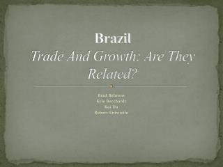 Brazil  Trade And Growth: Are They Related?