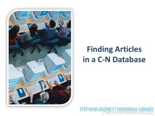 Unit 5 - Finding articles in a C-N database