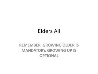Elders All