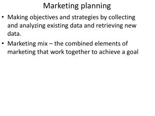 Marketing planning
