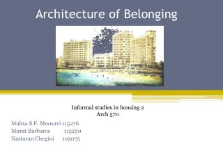Architecture of Belonging