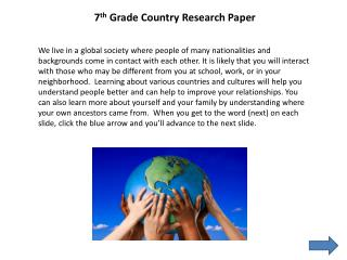 7 th  Grade Country Research Paper