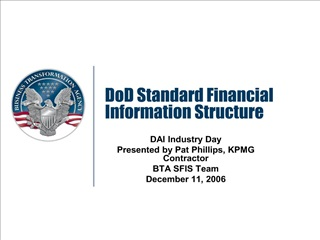 dod standard financial information structure