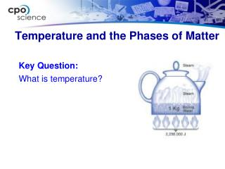 Temperature and the Phases of Matter