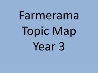 Farmerama Topic Map Year 3
