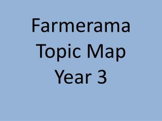 Farmerama Topic Map Year 3