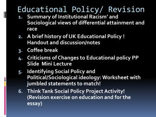 Educational Policy/ Revision
