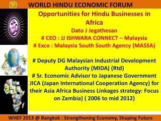 WHEF 2013 @ Bangkok : Strengthening Economy, Shaping Future