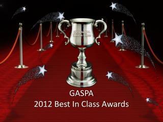 2012 GASPA Best in Class