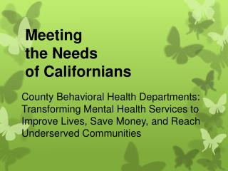 Meeting  the Needs of Californians