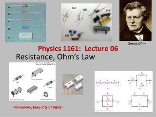 Resistance, Ohm's Law