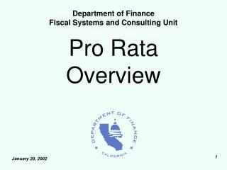 pro rata overview