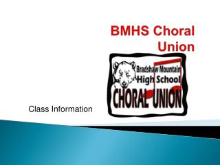 BMHS Choral Union