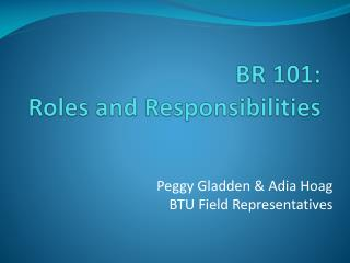 BR 101: Roles and Responsibilities