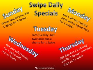 Swipe Daily Specials