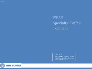 WESH Specialty Coffee Company
