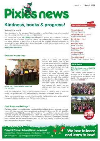 Kindness, books & progress!