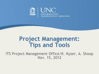 Project Management: Tips and Tools