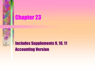 includes supplements 9, 10, 11 accounting version